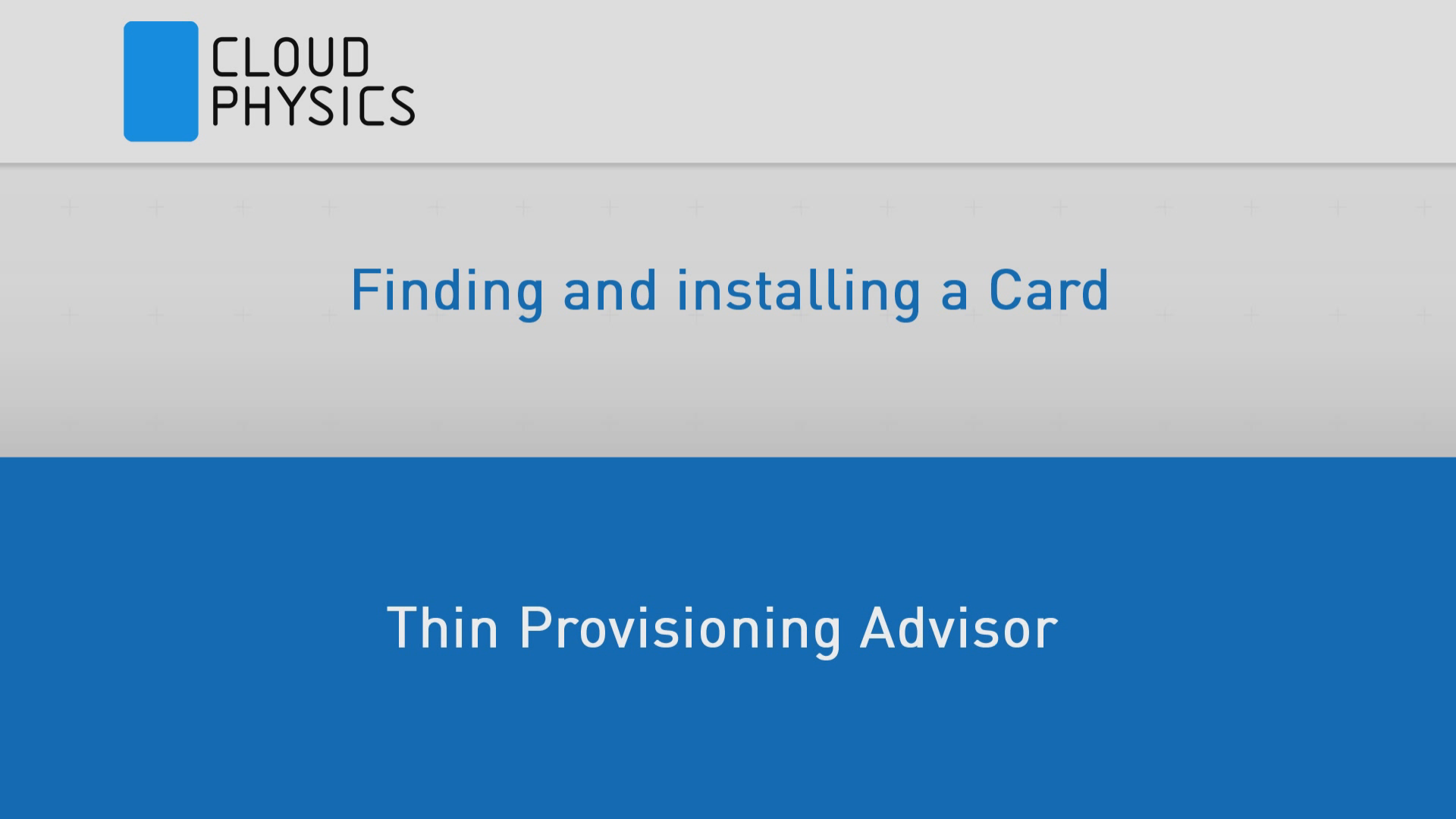 Finding Datastore Space Savings with CloudPhysics Thin Provisioning Advisor