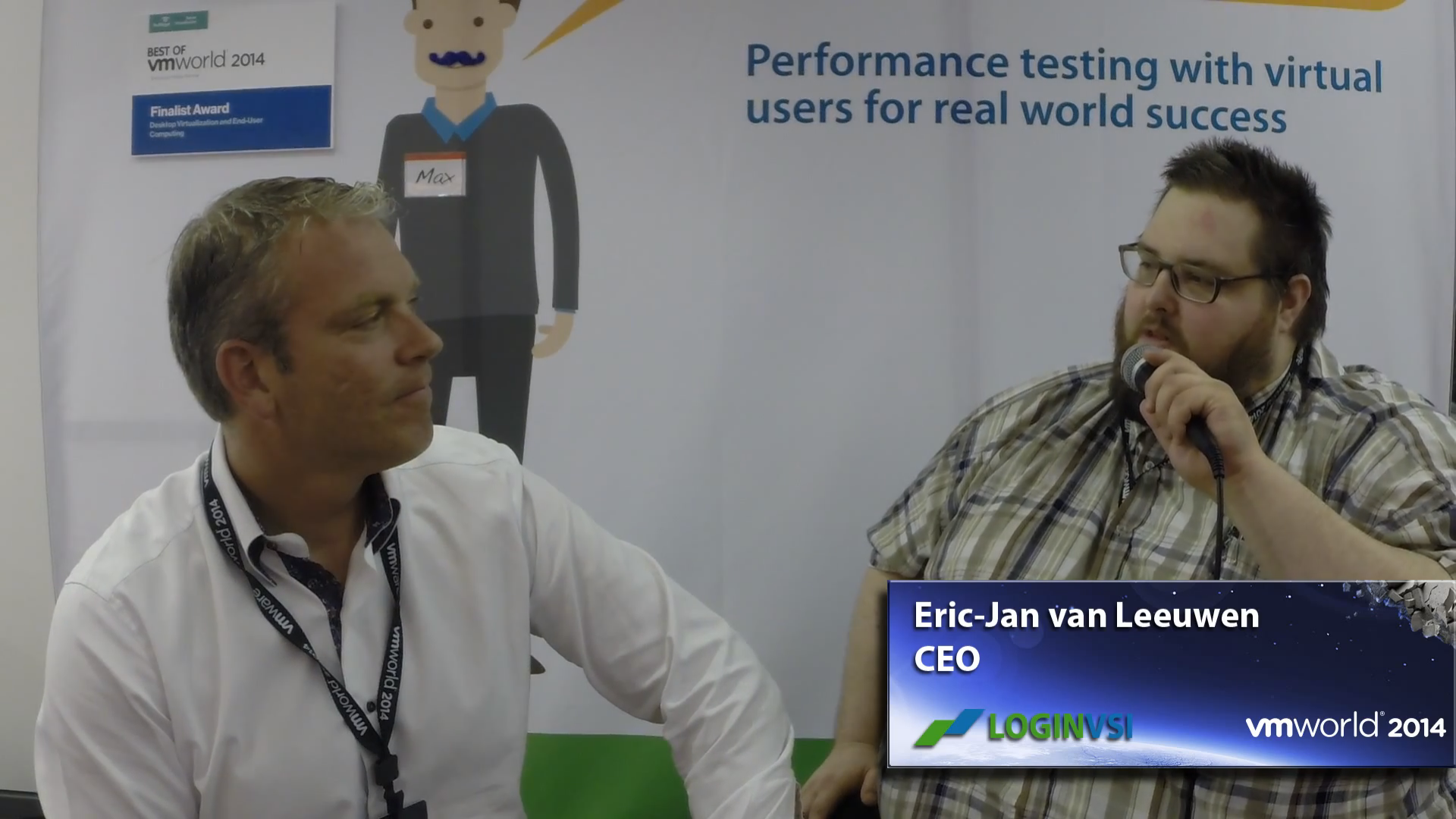 VMworld 2014 - Interview with LoginVSI's CEO Eric-Jan van Leeuwen
