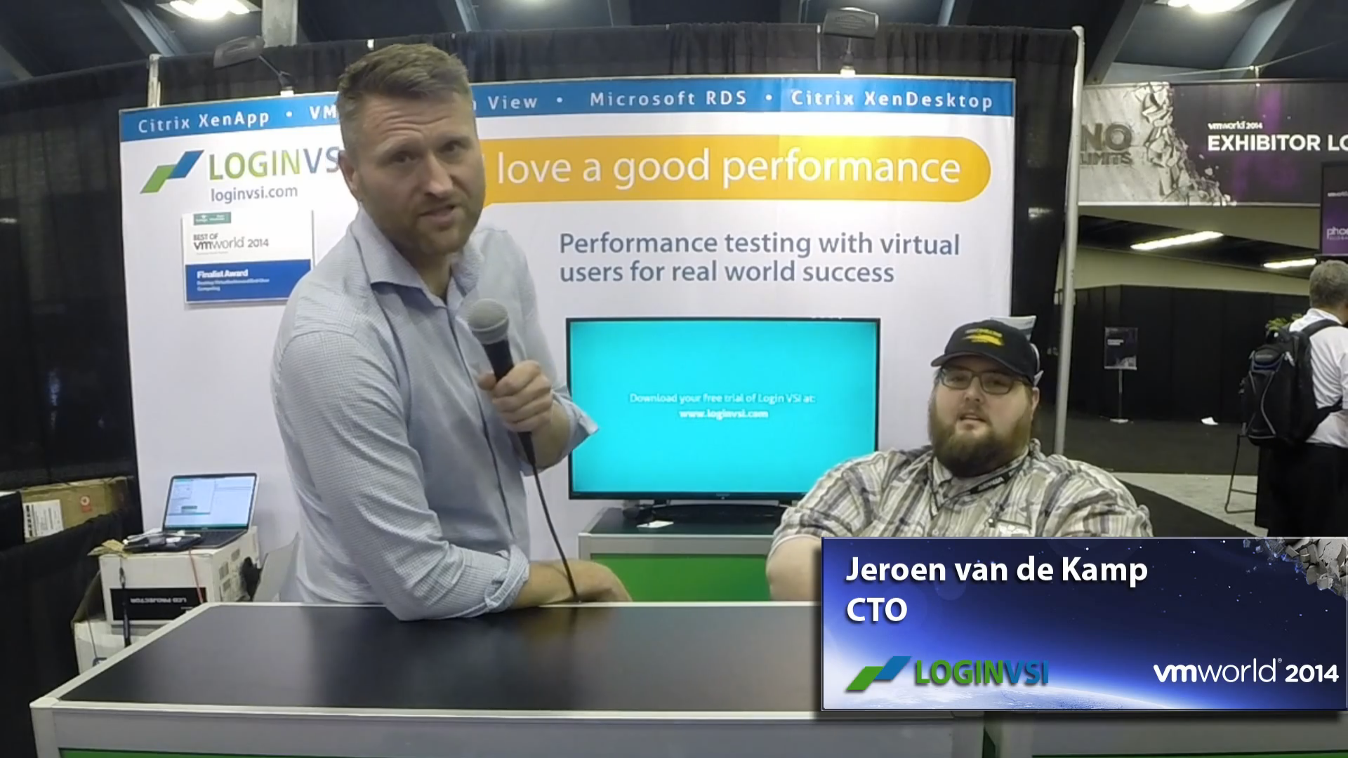 VMworld 2014 - Interview with LoginVSI's CTO Jeroen van de Kamp
