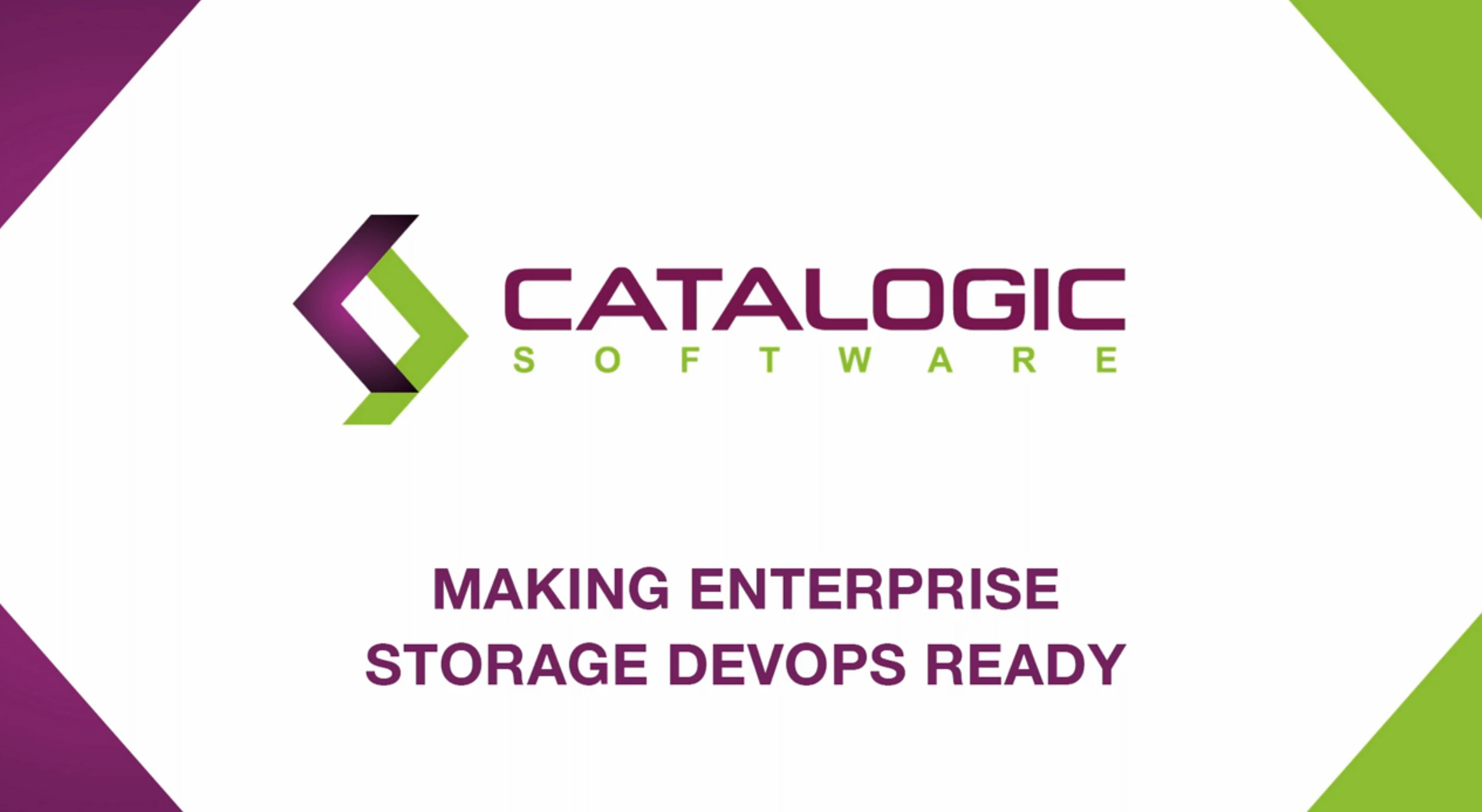 Webinar - Make Your Enterprise Storage DevOps Ready